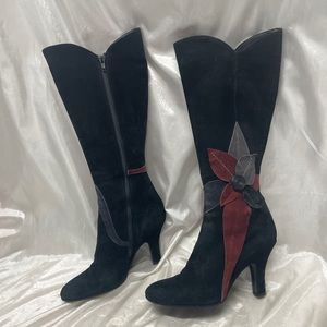 Davos Gomma Suede Tall Zipper Boots